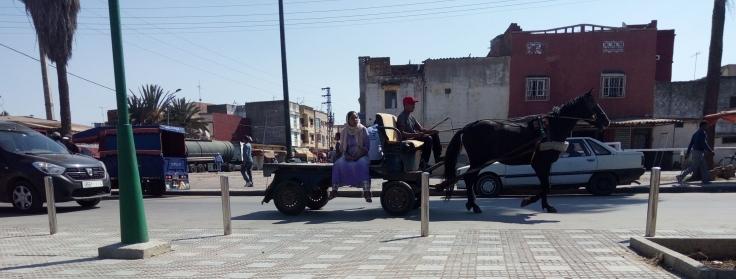 Camino del mercado - Sidi Yahya -compressor