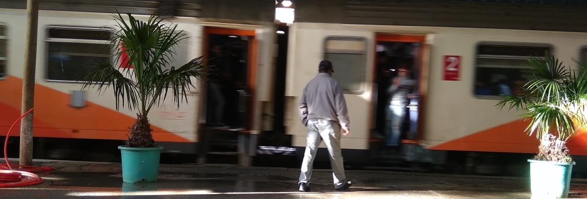 Dariya para subir al tren
